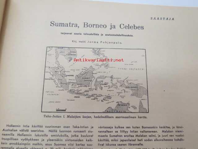 Saastaja 1942 Nr 3 4 Sis Mm Seur Artikkelit Sumatra Borneo