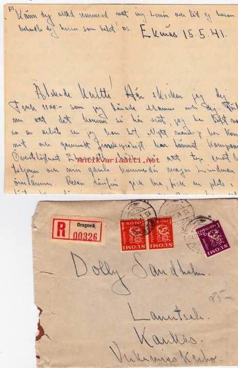 Kirje Ruotsiksi