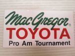 Mac Gregor Toyota Pro Am Tournament -tarra