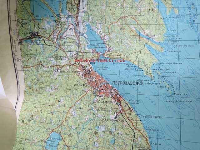 Ptrosavodsk Petroskoi 1 200 000 Venalainen Kartta V 1993