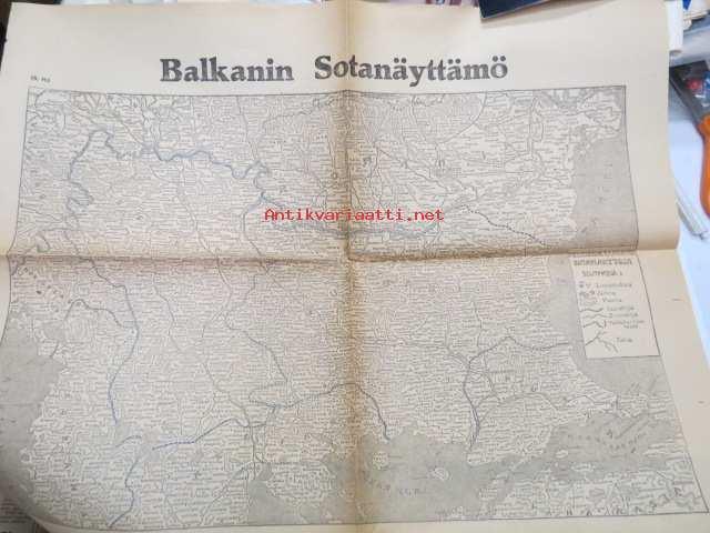Balkanin Sotanayttamo Kartta Helsingin Sanomat I