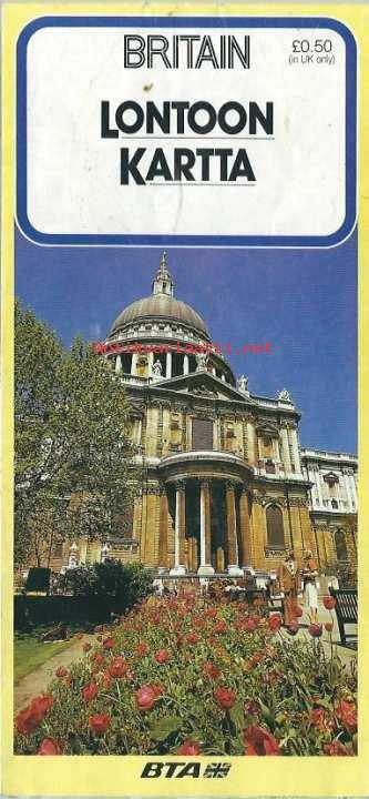 Lontoon Kartta 1987 Kartta Kunto Hyva 3 00
