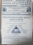 Suomen Paperi- ja Puutavaralehti / Pappers- och tr�varutidskrift f�r Finland / The finnish paper and timber journal 1945, paperiteollisuuden ja puutavara-alan suomen-, ruotsin- ja englanninkielinen ammattilehti -sidottu vuosikerta -annual volume