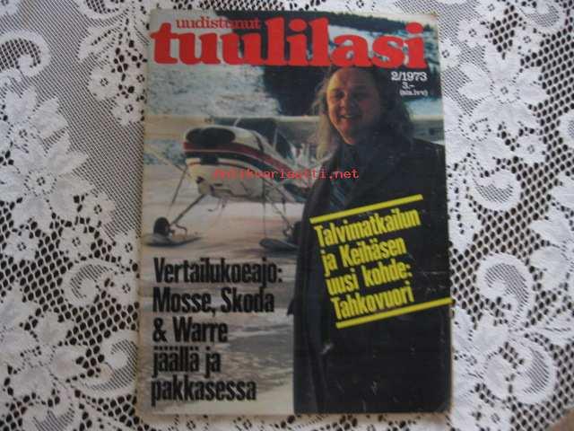 Tuulilasi 1973 / 2, sis. mm. seur. artikkelit / kuvat / mainokset; Talvimatkailun ja Keihäsen ...