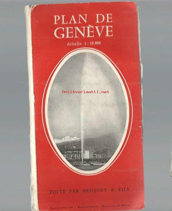 Plan De Geneve 1957 Kartta Kunto Hyva 3 50
