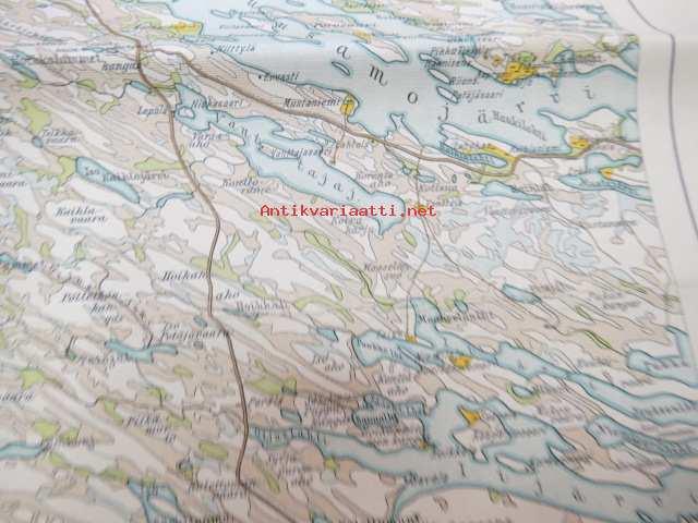 Kuusamo Xiii 10 Suomen Taloudellinen Kartta Finlands