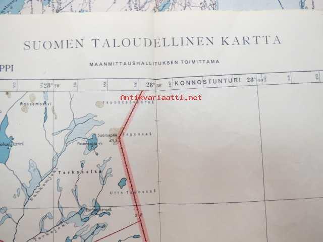 Raja Jooseppi 7580 610 27 30 540 460 Suomen Taloudellinen Kartta