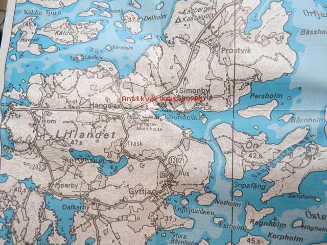 Pargas Parainen 1990 Kartta Map Kunto Hyva 5 00