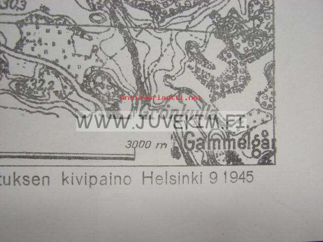 Monninkyla 1945 Kartta Kunto Hyva 5 00 Antikvariaatti Net