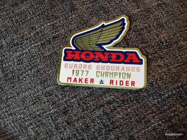 aito laatu hienoin valinta saada uutta Honda Europe endurance 1977 champion - tarra