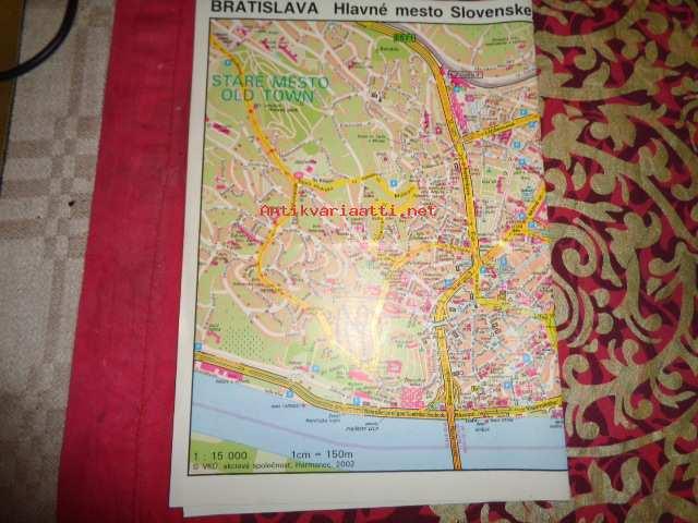 Bratislava Kartta Kunto Tyydyttava 1 50 Antikvariaatti Net