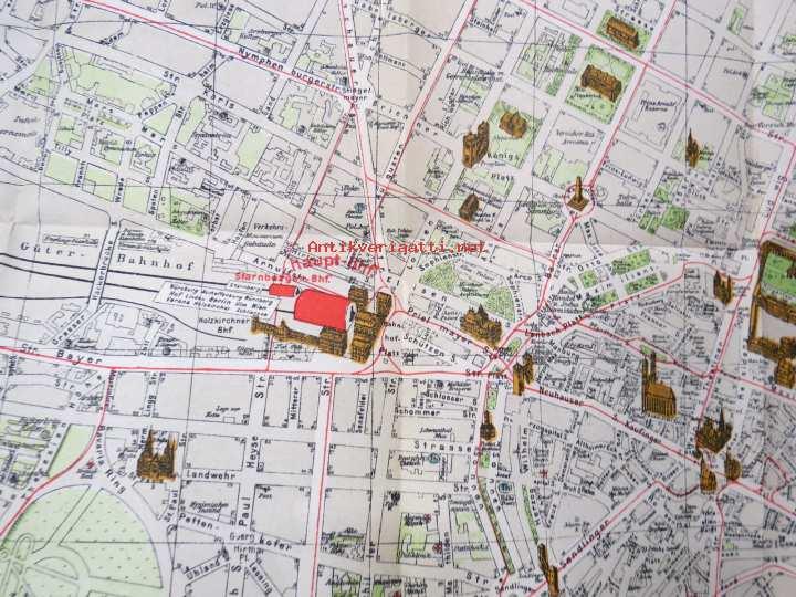 Pharusplan Munchen Kartta Map Kunto Tyydyttava 5 00