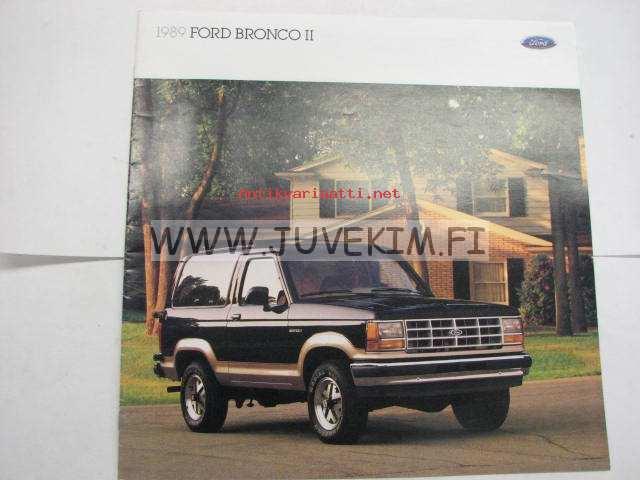 Ford Bronco 2 >> Ford Bronco Ii 1989 Myyntiesite