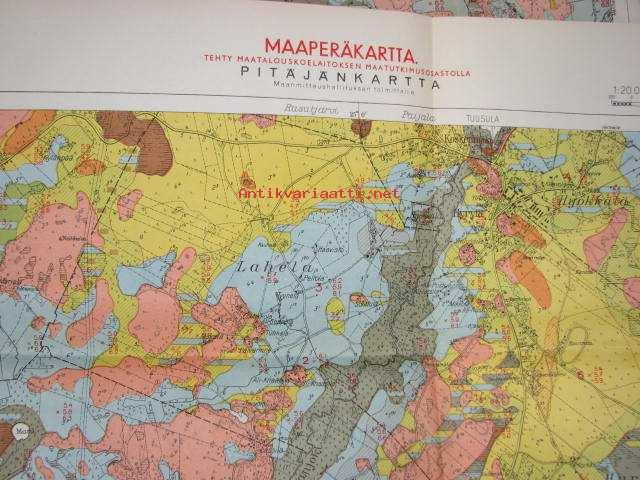Hyryla Maaperakartta Pitajankartta 1 20 000 1948 Kartta