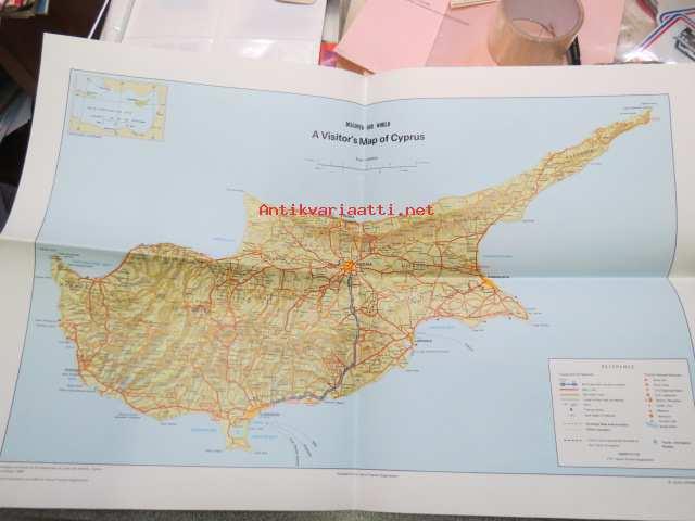 A Visitor S Map Of Cyprus Kartta Kypros Kunto Hyva 4 00