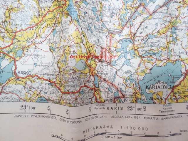 Suomen Taloudellinen Kartta Suomusjarvi 1949 Kunto Tyydyttava