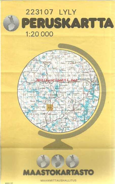 Lyly 2231 07 Peruskartta 1 20 000 Kartta Maanmittaushallitus