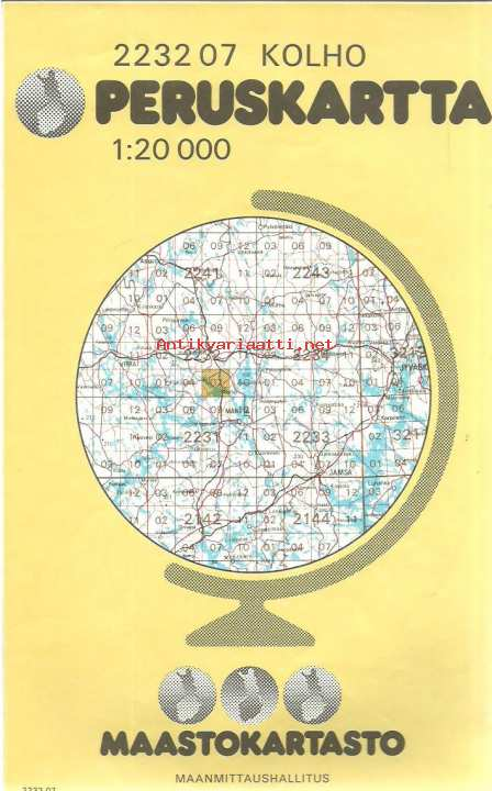 Keurusselka 2232 07 Peruskartta 1 20 000 Kartta