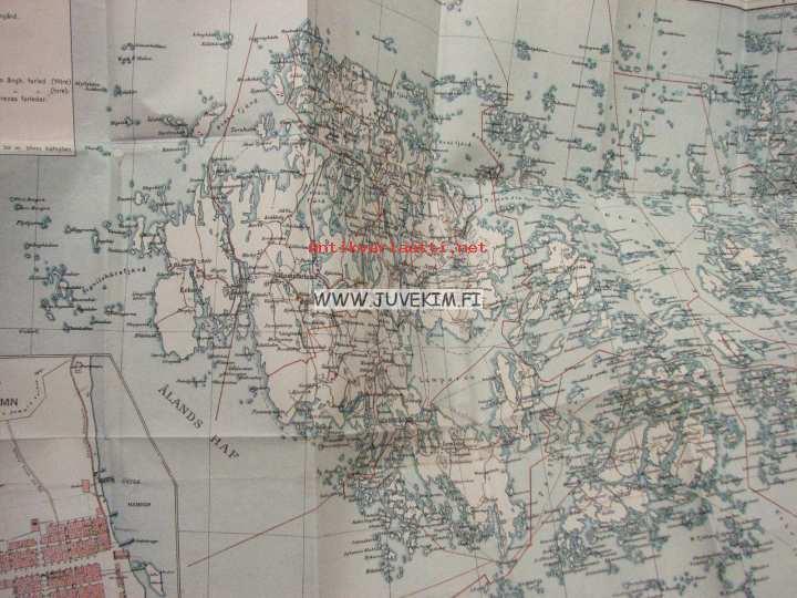Karta Over Aland Ahvenanmaan Kartta Kunto Hyva 7 00