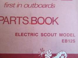 Evinrude 1974 Parts book Electric Scout model  (First in outboards), katso tarkemmat mallimerkinnät kuvista.