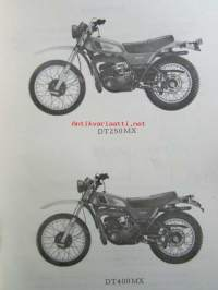 Yamaha parts list model DT250MX ('77)(type1R7) model DT400MX ('77)(type1R6) for Europe