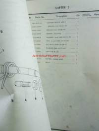 Yamaha parts list model RS125 (type 480) for Europe (vm.'75) - Varaosaluettelo