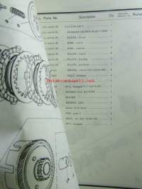 Yamaha parts list model RS125 ('77)(type 2A0) for Europe - Varaosaluettelo
