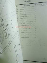 Yamaha parts list model TY125 ('77)(type 1K6) for Europe - Varaosaluettelo