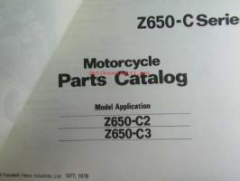 Kawasaki Z650-C series (Z650-C2 Z650-C3) for European market, motorcycle Parts Catalog - varaosaluettelo