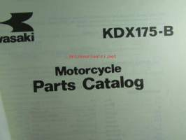 Kawasaki KDX175-B, For European Market, motorcycle Parts Catalog - varaosaluettelo