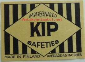 Vientietiketti KIP Impregnated Safeties Made in Finland (10 x 7 cm)