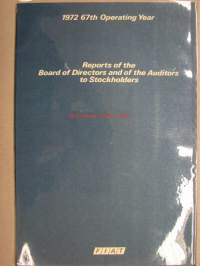 Fiat 1972 Reports of the Board of Directors and of the Auditors to Stockholders -osakeyhtiön vuo´sikertomus