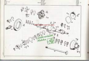 Mercedes-Benz  type LP 810 Chassis and body spare parts list  Varaosakuvasto  1966