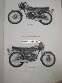 Yamaha RD125 (´75), RD125DX (´75) (type AS3) parts list -varaosaluettelo