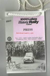 1000 Lakes Historic Rally Finland  7-8..8.1999 - Press - kortti