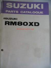 Suzuki RM80XD parts catalogue varaosaluettelo