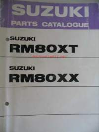 Suzuki RM80XT RM80XX parts catalogue varaosaluettelo