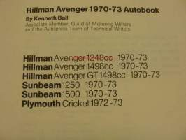 Hillman Avenger 1970-73 Autobook owner´s workshop manual