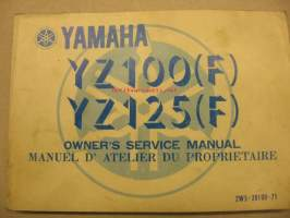 Yamaha YZ100F YZ 125F owner´s service manual 1st  edition august 1978