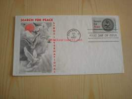 Lions International Search for Peace 1967 USA ensipäiväkuori FDC