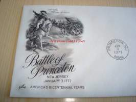 Battle of Princeton George Washington 1977 USA FDC ensipäiväkuori