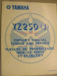 Yamaha YZ250 (J) owner´s manual tuning and service huolto-ohjekirja