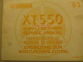 Yamaha XT550 supplementary service manual