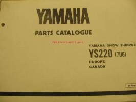 Yamaha AS220 Snow Thrower parts catalogue lumilinko varaosaluettelo