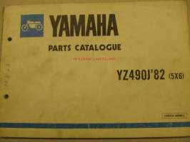 Yamaha YZ490J´82 parts catalogue varaosaluettelo