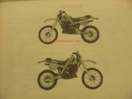 Yamaha IT250Z 83 parts catalogue varaosaluettelo