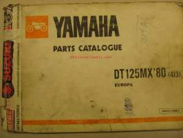 Yamaha DT125MX´80 parts catalogue varaosaluettelo