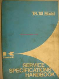 Kawasaki 1984-1985 Service Specifications handbook