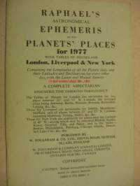 Raphael´s astronomical ephemeris of the planet´s places for 1977
