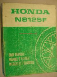 Honda NS125F Shop Manual korjaamokirja